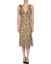 Ralph Lauren Kneelength Dress - Lyst