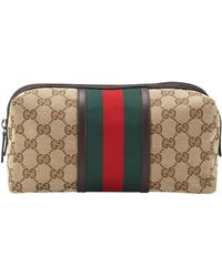 Gucci Gg Canvas Toiletry Bag - Lyst