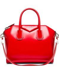 Givenchy Red Small Antigona - Lyst