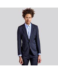 Paul Smith Gents Color Block Jacket Navy/Grey - Lyst