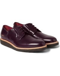 Common Projects Crepesole Leather Derby Shoes - Lyst