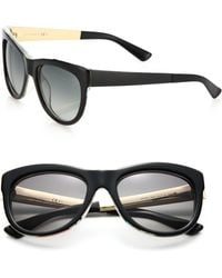 Gucci 55Mm Butterfly Sunglasses - Lyst