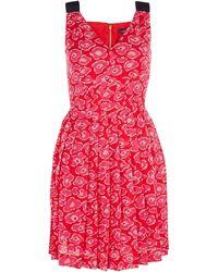Marc By Marc Jacobs Cas Print Silk Cotton Dress - Lyst