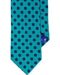 Ted Baker Men's Polka Dot Satin Necktie - Blue