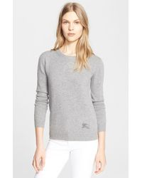 Burberry Brit Cashmere Blend Crewneck Sweater - Lyst