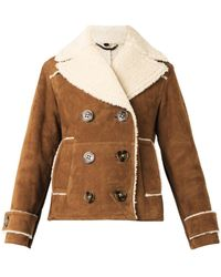 Burberry Prorsum Bonded Suede and Shearling Jacket - Lyst