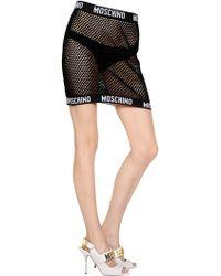 Moschino Cotton Fishnet Mini Skirt - Lyst