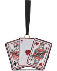 Olympia Le-Tan Queen Of Hearts Clutch - Lyst