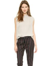 Rebecca Minkoff Triston Top  Grey - Lyst