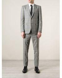 Etro Chequered Classic Suit - Lyst