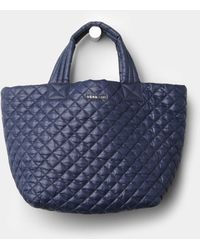 MZ Wallace Small Metro Tote Navy Oxford - Lyst