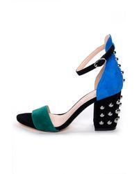 Isa Tapia Astor Blue/Green Multi Sandal