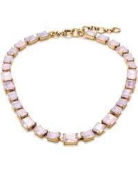 J.Crew Rectangle Gem Necklace - Lyst