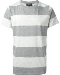 A.P.C. Wide Stripe T-Shirt - Lyst