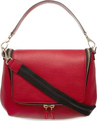 Anya Hindmarch Maxi Zipped Leather Satchel Red - Lyst