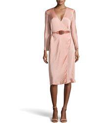 Donna Karan New York Belted Envelope Dress - Lyst