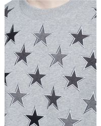 Givenchy | Star Embroidery Cotton Sweatshirt | Lyst