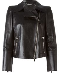 Giorgio Armani Classic Biker Jacket - Black