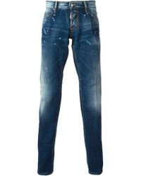 DSquared2 Straight Leg Jeans - Lyst