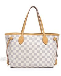 Louis Vuitton Preowned Damier Azur Neverfull Pm Tote Bag - Lyst