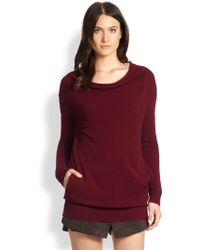 Halston Heritage Cashmere Cowlneck Sweater - Lyst