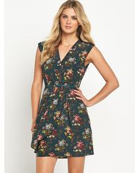 Oasis Primrose Floral Silk Dress - Lyst