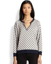 Marc By Marc Jacobs Andrea Jacquard Knit Sweatshirt - Lyst