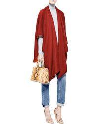Prabal Gurung Twotone Cashmere Shawl in Orange