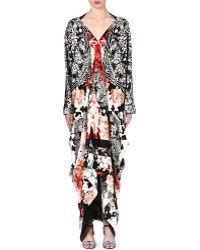 Roberto Cavalli Floralprint Silk Dress Multi - Lyst