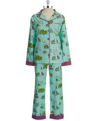 Munki Munki Flannel Christmas Tree Pajamas - Lyst