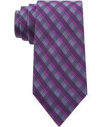 Calvin Klein Silk Plaid Tie - Lyst