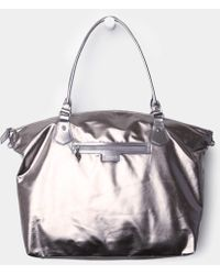 MZ Wallace - Chelsea Weekender Distressed Silver - Lyst