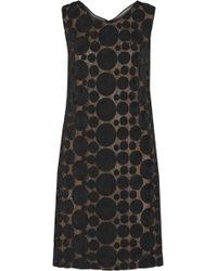 Vera Wang Rosetteembellished Lace Dress - Lyst