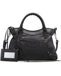 Balenciaga Classic Town Bag Black - Lyst
