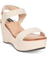 Me Too - Adam Tucker Baci Platform Wedge Sandals - Lyst