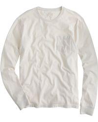 J.Crew Tall Broken-In Long-Sleeve Pocket Tee white - Lyst