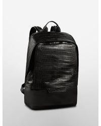 Calvin Klein Jeans Croco Embossed Backpack black - Lyst