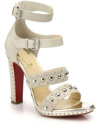 Christian Louboutin Decodame Studded Suede Sandals - Lyst