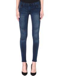 Levi's Moto Zip-pocket Skinny Mid-rise Jeans - Lyst