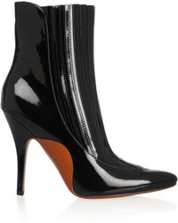 Alexander Wang Magda Patentleather Ankle Boots - Lyst