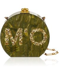 Edie Parker M'o Exclusive: Bespoke Oscar Clutch In Olive Pearlescent