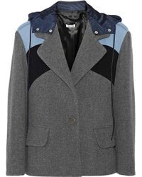 Miu Miu Paneled Wool Jacket - Lyst