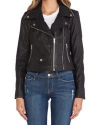 Obey Savages Leather Jacket - Lyst