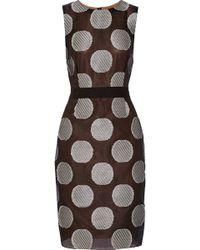 Vera Wang Silkblend Dress - Lyst
