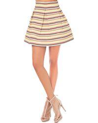 Akira Black Label - Striped Bandage Skater Skirt - Lyst