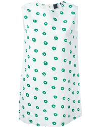 Aspesi Dotted Shift Dress - Lyst