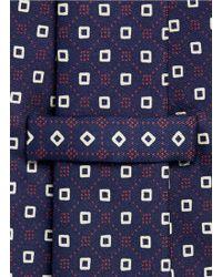 E. Marinella - Square Grid Print Silk Tie - Lyst