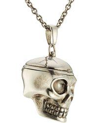 Alexander McQueen | Skull Necklace - Silver | Lyst