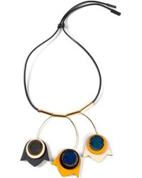 Marni Floral Pendant Necklace - Lyst