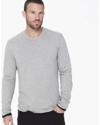 James Perse Cotton Cashmere Doubled Tee - Lyst